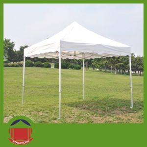 10X10FT weiße Farbefaltendes Gazebo-Zelt für im Freienreklameanzeige