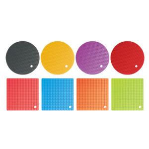 Stuoia calda termoresistente multicolore del silicone della Tabella del supporto di POT dell'articolo da cucina
