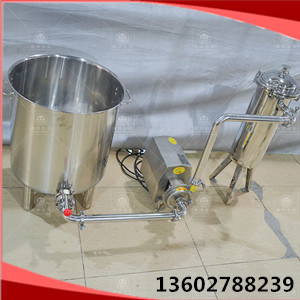 필터 조합 또는 스테인리스 물통 - 원심 펌프 - 필터 또는 액체 필터