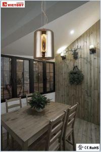 Banheira de venda de vidro fumado simples moderna travando Lâmpada Pendente