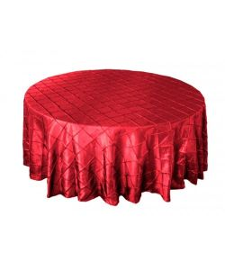 結婚式の装飾のためのPintuckのタフタのテーブルクロスの結婚式のテーブルクロス