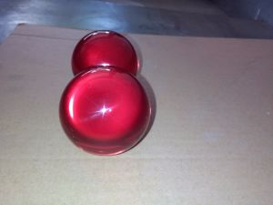 Juggling Ball (Acrylic, RUBY RED, 75mm) - Trick -를 접촉하십시오 Magic Tricks