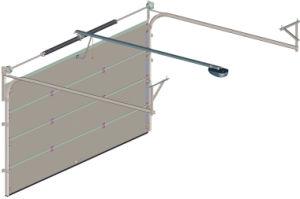 Gomma piuma di poliuretano e portello sezionale del garage del Ce (Hz-GR009)