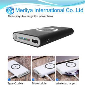 Qi-Universalität 3 in 1 drahtloser Induktions-Aufladeeinheit USB-Energien-Bank
