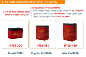 Trojan Navulbare Batterijen 6V225ah van de Kwaliteit 6V T105 voor Kar EV/Golf