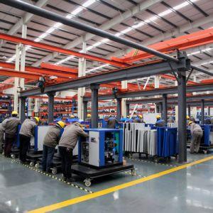 15HP 150 P-/inelektrischer stationärer riemengetriebener Drehschrauben-Luftverdichter