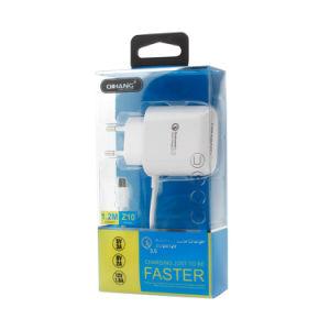 зарядное устройство USB QC3.0 телефон с помощью кабеля USB для освещения iPhone (белый)