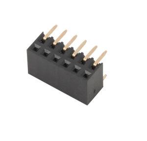 2.54 2.0 1.27mm fêmea única plataforma&Fileira Dupla 2-40pino