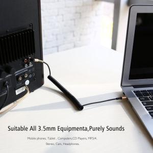 3.5mm男性の引き込み式の適用範囲が広いジャックプラグ補助の可聴周波ケーブルへの可聴周波ステレオケーブルの男性