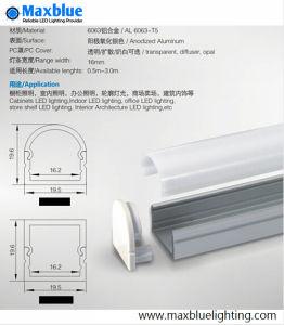 Alloggiamento di alluminio messo della scanalatura a u di profilo per l'indicatore luminoso di striscia di 10-11mm