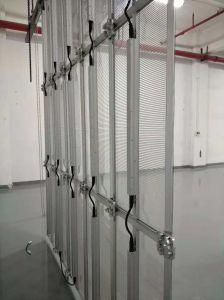 PH3.91-10.4 Taux de rafraîchissement élevé ultra mince en aluminium Die-Casting DEL transparente Rideau maille/Affichage plein écran LED de couleur/Intérieur Affichage LED de location