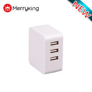 2018 Nuevo estilo de Super Fast Charge 3 puertos USB cargador de batería del teléfono móvil de pared Cargador de casa para el iPhone