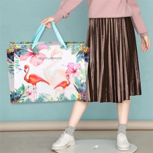 Sacchetto impaccante all'ingrosso di colore rosa su ordinazione dei vestiti del Libro Bianco del bambino