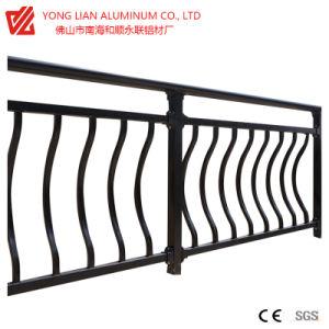De Omheining/de Vangrail van het Balkon van het aluminium door het Profiel dat van de Uitdrijving van het Aluminium wordt gemaakt