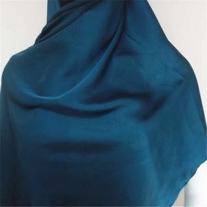 カスタム明白なカラーマレーシアのHijabの絹のサテンのショール