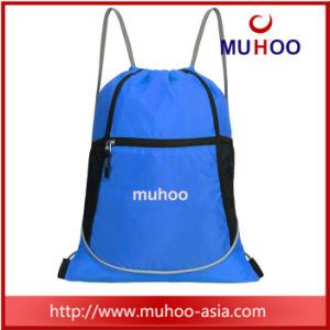 Repelente impermeable de nylon negro/poliéster/Saco mochila de la cadena de gimnasio
