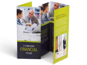 El arte de alta calidad papel barato Folleto folleto personalizado de las empresas de impresión