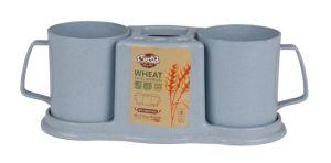 أرز قشرة غرفة حمّام [تووثبروش] [تووثبست] حامل قفص منام بلاستيكيّة تخزين من مجموعة