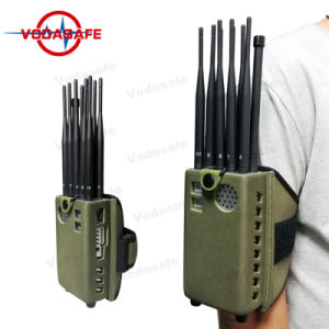 De Radio van cellphone/Wi-FI /Bluetooth2.4G/5.8g/Lojack/Xm van de Last CDMA/GSM/3G/4glte van de auto/Gpsl1/Gpsl2, Stoorzender van de Last van de Auto van 10 Band de Draagbare