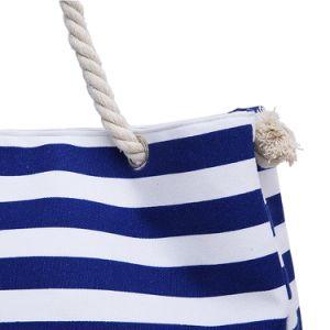 熱い販売法浜のShoulder Tote Handbagsしまのあるキャンバスの女性