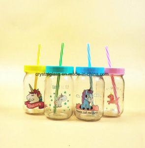 ハンドルのふたおよびわらが付いているカスタムロゴの印刷の飲料の飲む瓶
