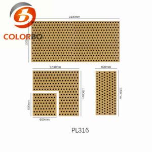 Естественным покрытием из шпона перфорированные Fire-Resistant Акустические панели