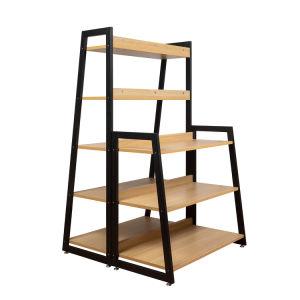 Oficina en casa multifuncionales de la pantalla stand Estantería 5 Tiers estantería estantería estantería de madera MDF