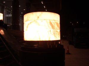 투명한 효력을%s 가진 대리석 실내 장식 중단된 천장 램프
