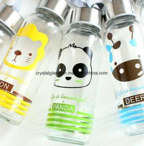 O logotipo personalizado 300ml frasco de vidro garrafa de água