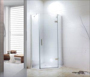 Carré en acier inoxydable les colliers de serrage de la porte de douche en verreaccessoire de la salle de bain en céramique