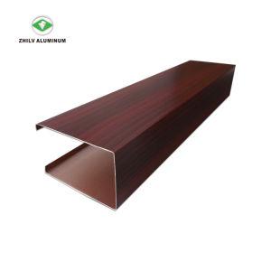 L'aluminium en forme de U suspendu au plafond du déflecteur
