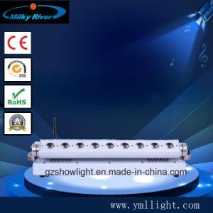 La luz de la etapa de control DMX WiFi, 9X18W RGBWA+UV LED DMX inalámbrica luz superior de la barra de alimentación por batería