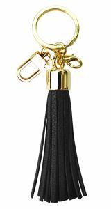 Kundenspezifisches Metallfertigkeit-Schwarz-Großhandelsleder-Schlüsselkette für Dekoration (079)
