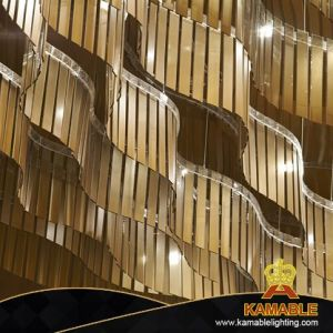 O design interior do lobby do hotel Customized Grande lustre no teto (KJ007)