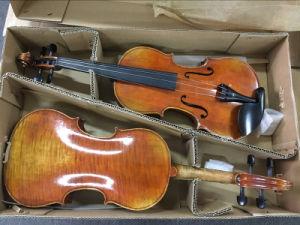 Ручная работа профессиональных Stradivari скрипок со старинной отделкой