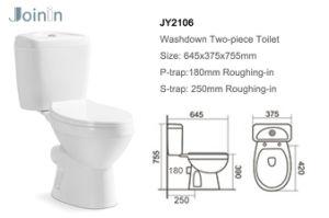 Gesundheitliches Ware-Badezimmer-keramische zweiteilige Arbeitskarte-Toilette (JY2106)
