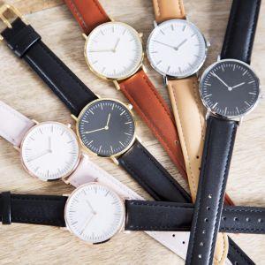 En acier inoxydable de la mode en cuir Mesdames cadeau personnalisé montre-bracelet Quartz