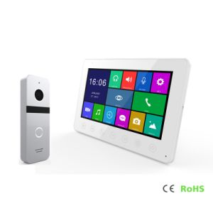 HD 7 pulgadas de la seguridad del hogar de interfono de memoria de vídeo de timbre Doorphone