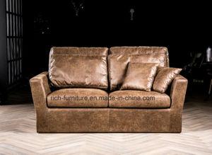 Verkaufsschlager-amerikanisches Art-Weinlese-Leder-Sofa