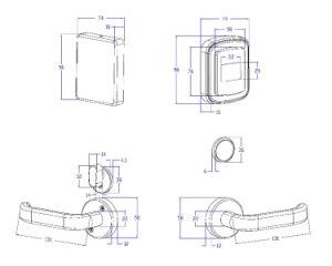RFID Hotel-Schlüsselkarten-Verschluss für Tür