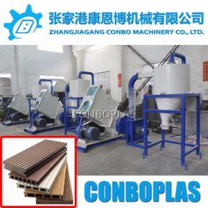 Plástico madera PE PVC Revestimientos de WPC compuesto trituradora de perfiles de suelo