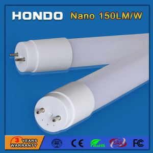 illuminazione Nano del tubo glassata 600mm di 9W 2FT SMD2835 T8 LED