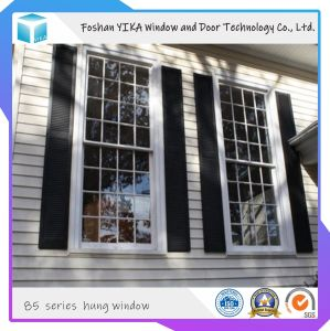 Salto térmico de vidrio templado colgado de la ventana de aluminio con mosquitero
