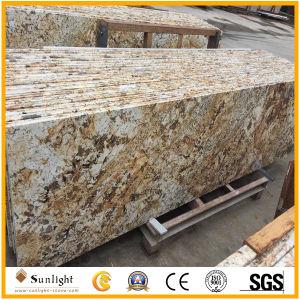 Préfabriqué personnalisé Oxford Gold/Golden comptoirs de cuisine salle de bains en granit