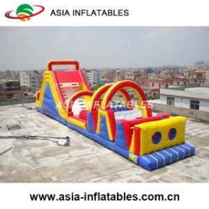 Loco inflables Gran Carrera de Obstáculos / Super diapositiva