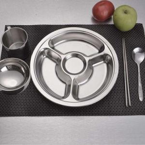 201 de forme ronde en acier inoxydable bac alimentaire /Plaques profonde de l'école Dîner