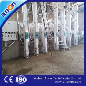 Anon totalmente automático de alta eficiencia de la línea de producción de arroz paddy, máquinas de mecanizado
