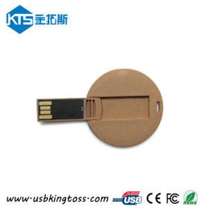 Free Custom LogoのWoodenペーパーCard USB Drive