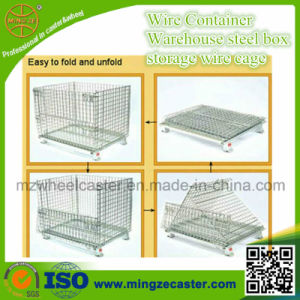 Storage Foldable Steel Wire Mesh Container e Folding Grille Box