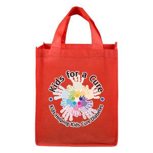 買物をする市場のための非編まれた袋の使用